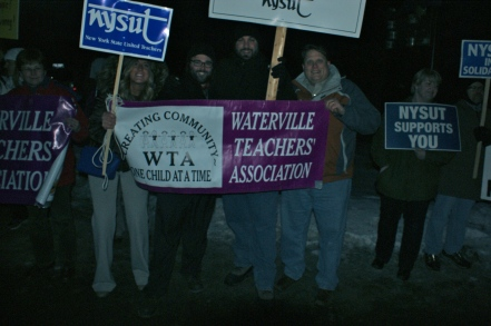 Members of several local school districts attended the rally.