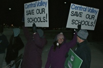 Supporters from Central Valley schools take a stand.