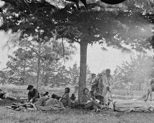 Company K was an all Native regiment of sharpshooters who fought in the Civil War. Photo from Library of Congress