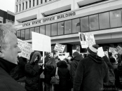 A crowd rallies for public education in March (Photo: Derek Scarlino/Love and Rage)