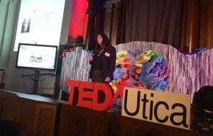 Suzanne presenting at TEDx Utica, November 2014.