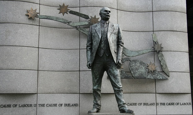A statue of James Connolly outside the offices of the Services Industrial Professionial and Technical Union in Dublin. (Photo: Sue Heaton / Alamy/Alamy)