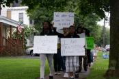 Activists march down Oneida Street in Utica last August for Michael Brown, Ferguson awareness. (Photo: Derek Scarlino/Love and Rage)