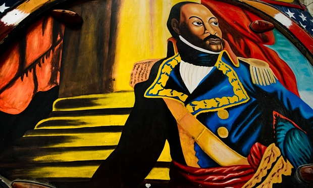 Toussaint L'Ouverture as depicted on the body of a bus in Port-au-Prince in 2008. (Photo: Jan Sochor/Alamy)