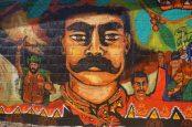 Galeano LIves! A mural in Chiapas, Mexico honors slain Zapatista Galeano.