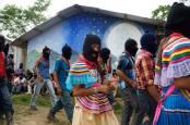 Zapatistas march in La Realidad, Chiapas, Mexico.