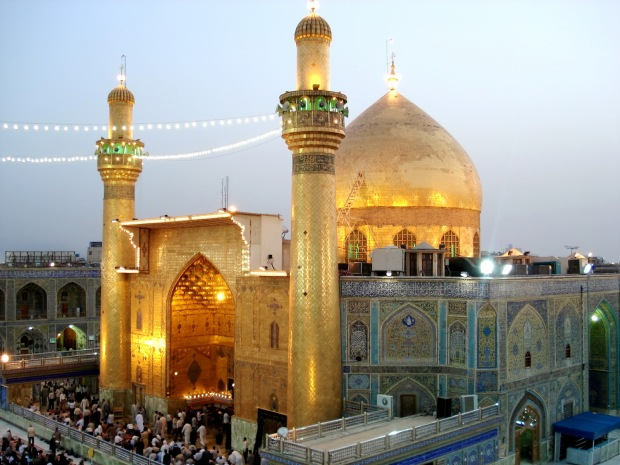 The Imam Ali Shrine in Najaf, Iraq - the city where Ahmed Abbas is from.