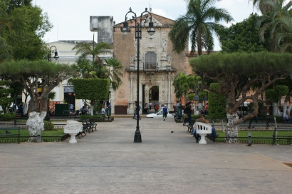 Casa de Monteja as seen from Plaza Grande.