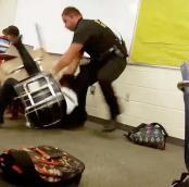 A screencap of the incident. (Photo: AP)