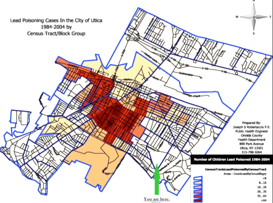 Lead poisoning levels in Utica. (Photo: Oneida County Health Department)