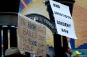 Protesters rally on Utica's Liberty Bell Corner during the launch of Occupy Utica. (Photo: Derek Scarlino/Love and Rage)