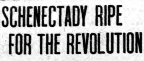 Headline of a 1911 issue of the New York Call, a socialist newspaper, as George Lunn became a real possibility to be elected mayor.