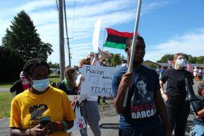 Utica Abolitionists and Black Lives Matter activists. (Photo credit: Eamon Handzel)