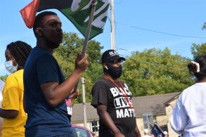 The Trump supporters reserved much of the anger and threats for the young Black activists. Photo Credit: Love and Rage